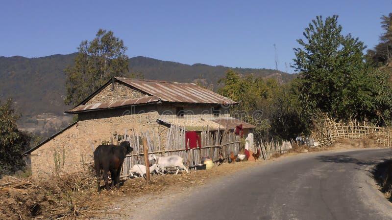 Παραδοσιακό σπίτι Nepali στοκ εικόνα