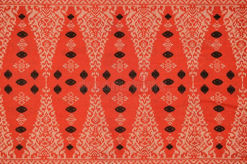 Παραδοσιακό σχέδιο σαρόγκ μπατίκ στοκ φωτογραφία με δικαίωμα ελεύθερης χρήσης