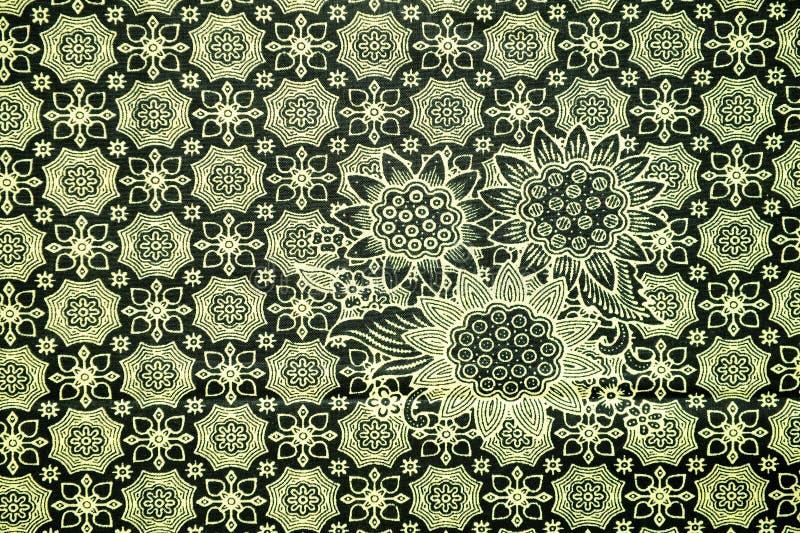Παραδοσιακό σχέδιο σαρόγκ μπατίκ στοκ εικόνες