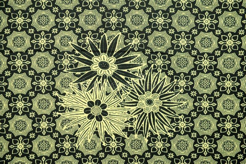 Παραδοσιακό σχέδιο σαρόγκ μπατίκ στοκ εικόνα με δικαίωμα ελεύθερης χρήσης