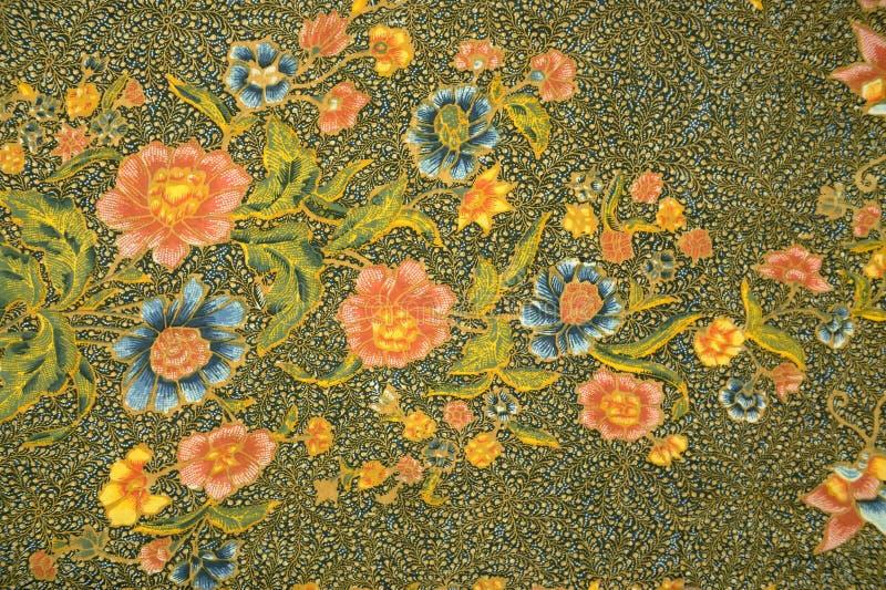 Παραδοσιακό σχέδιο σαρόγκ μπατίκ στοκ φωτογραφίες