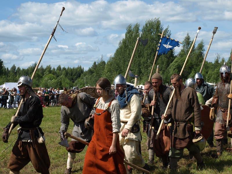 Παραδοσιακό φεστιβάλ του αρχαίου πολιτισμού των Σλάβων στοκ εικόνα με δικαίωμα ελεύθερης χρήσης