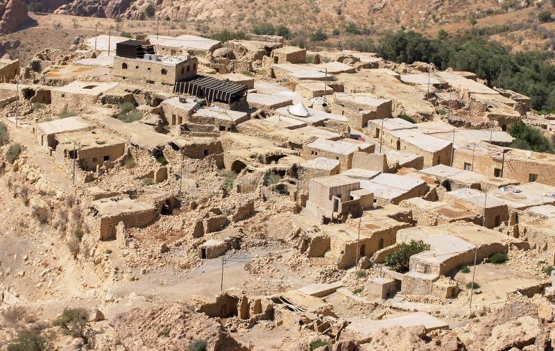 Παραδοσιακό χωριό της Dana στην Ιορδανία στοκ φωτογραφία με δικαίωμα ελεύθερης χρήσης