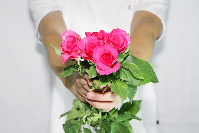 Παραδώστε τα τριαντάφυλλα σε σας στοκ εικόνες