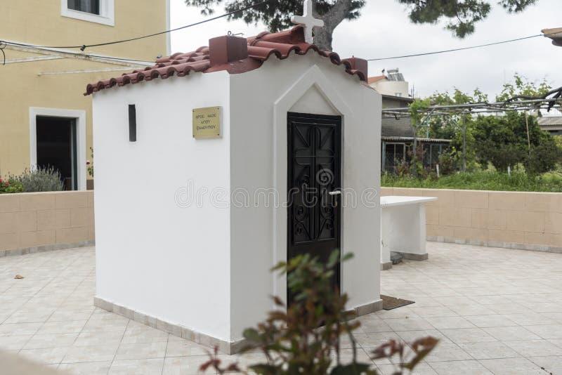 Παρεκκλησι σε ένα χωριό Ρόδος Ialysos κατωφλιών στοκ φωτογραφίες