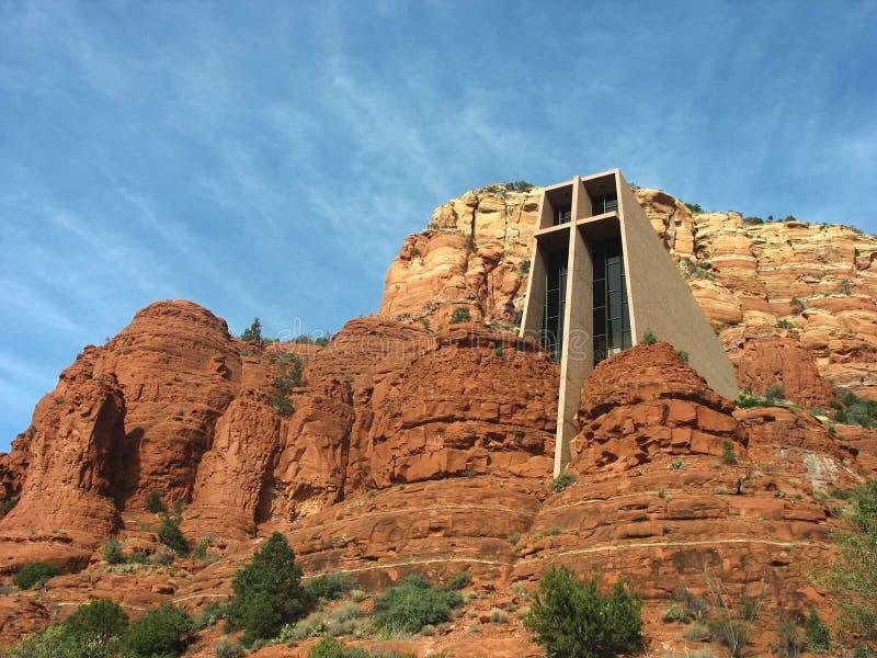 Παρεκκλησι του ιερού σταυρού σε Sedona, Αριζόνα στοκ φωτογραφίες