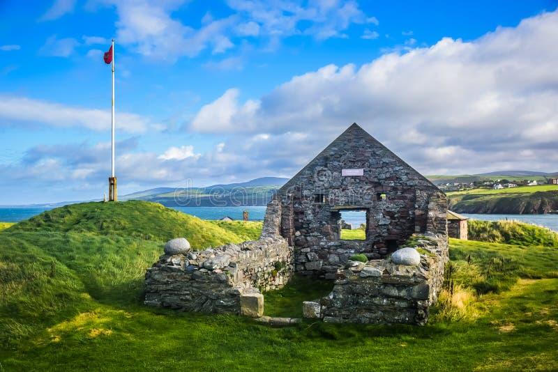 Παρεκκλησι του ST Πάτρικ ` s στη φλούδα Castle, Isle of Man στοκ φωτογραφίες με δικαίωμα ελεύθερης χρήσης