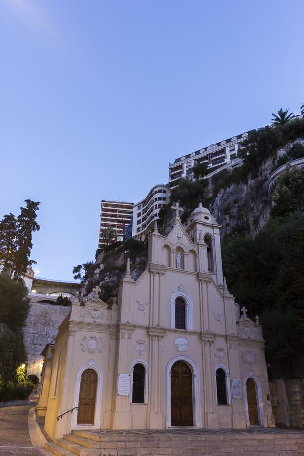 Παρεκκλησι sainte-Dévote στο Μονακό στοκ φωτογραφία με δικαίωμα ελεύθερης χρήσης