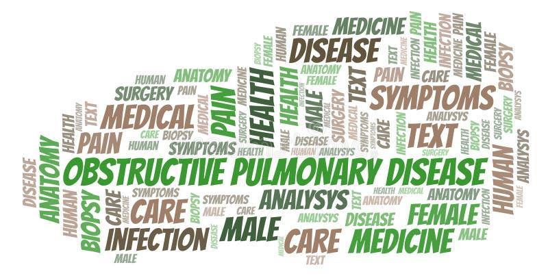 Παρεμποδιστικό πνευμονικό σύννεφο λέξης ασθενειών απεικόνιση αποθεμάτων