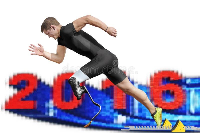 Παρεμποδισμένο sprinter το 2016 στοκ φωτογραφία με δικαίωμα ελεύθερης χρήσης