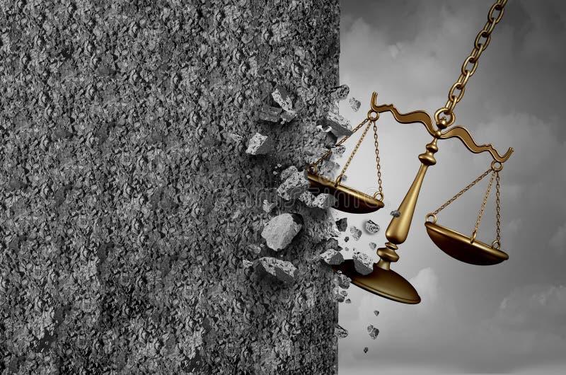 Παρεμπόδιση δικαιοσύνης ελεύθερη απεικόνιση δικαιώματος