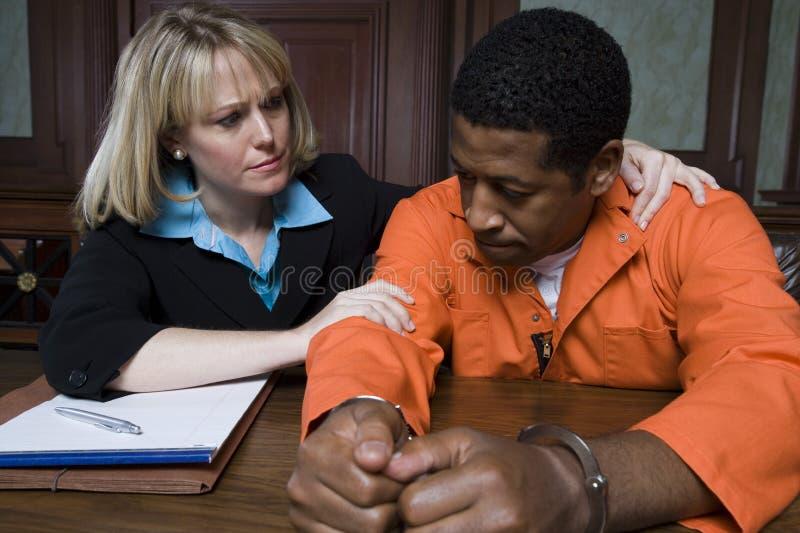 Παρηγορώντας εγκληματίας δικηγόρων στοκ εικόνες