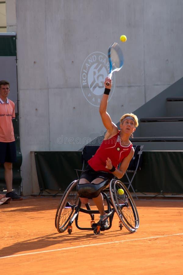ΠΑΡΙΣΙ, ΓΑΛΛΙΑ - 8 ΙΟΥΝΊΟΥ 2019: Ρόδα διπλασίων γυναικών του Roland Garros στοκ εικόνες