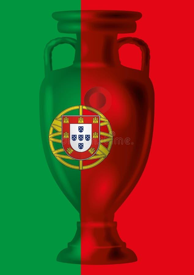 ΠΑΡΙΣΙ - ΓΑΛΛΙΑ - 10 Ιουλίου 2016 - νικητής της Πορτογαλίας του ευρο- πρωταθλήματος του 2016 απεικόνιση αποθεμάτων