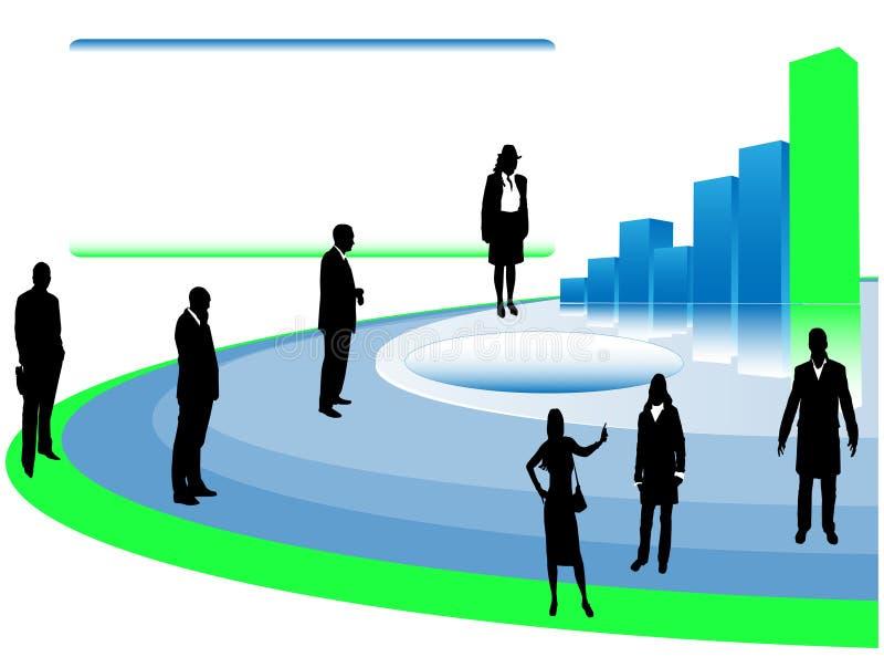 παρουσίαση επιχειρηματ&io διανυσματική απεικόνιση