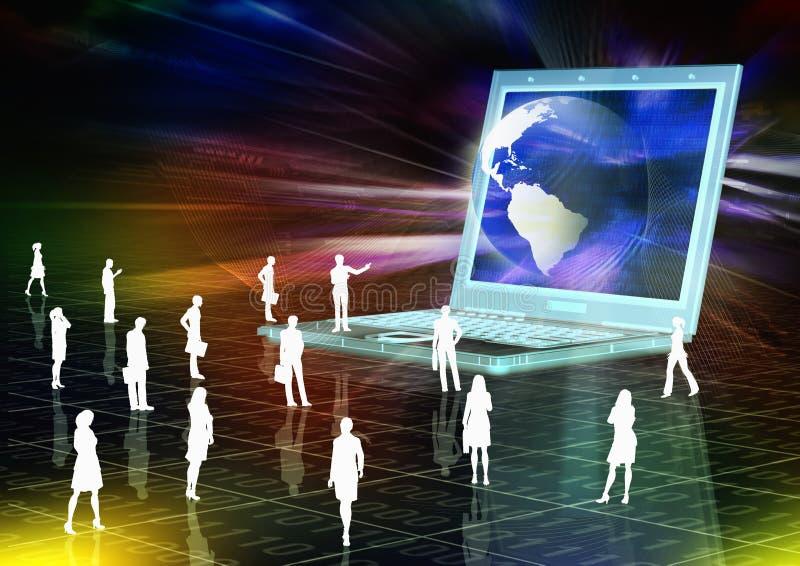 παρουσίαση ηλεκτρονικ&om διανυσματική απεικόνιση