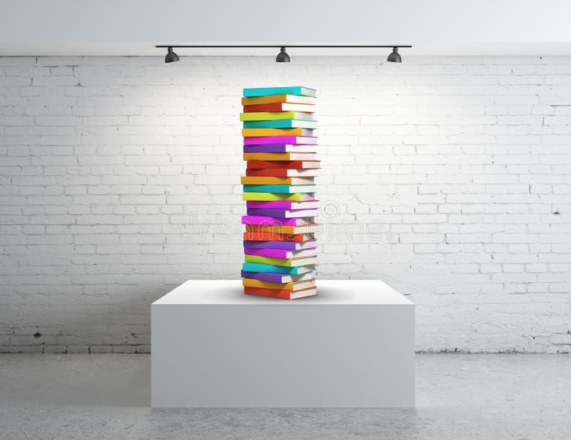 Παρουσίαση κιβωτίων με τα βιβλία στοκ φωτογραφίες