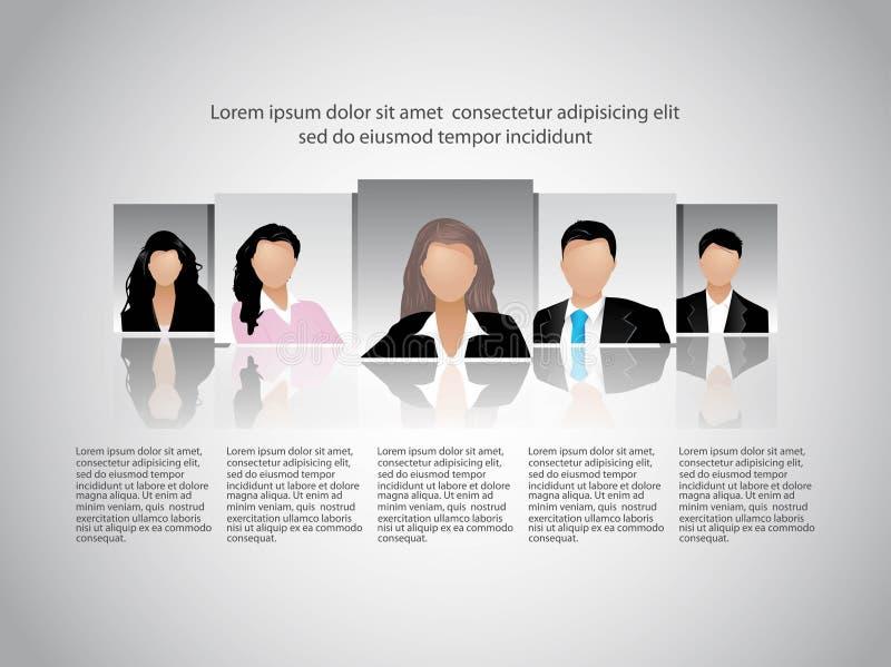 Παρουσίαση ομάδων επιχειρηματιών. απεικόνιση αποθεμάτων