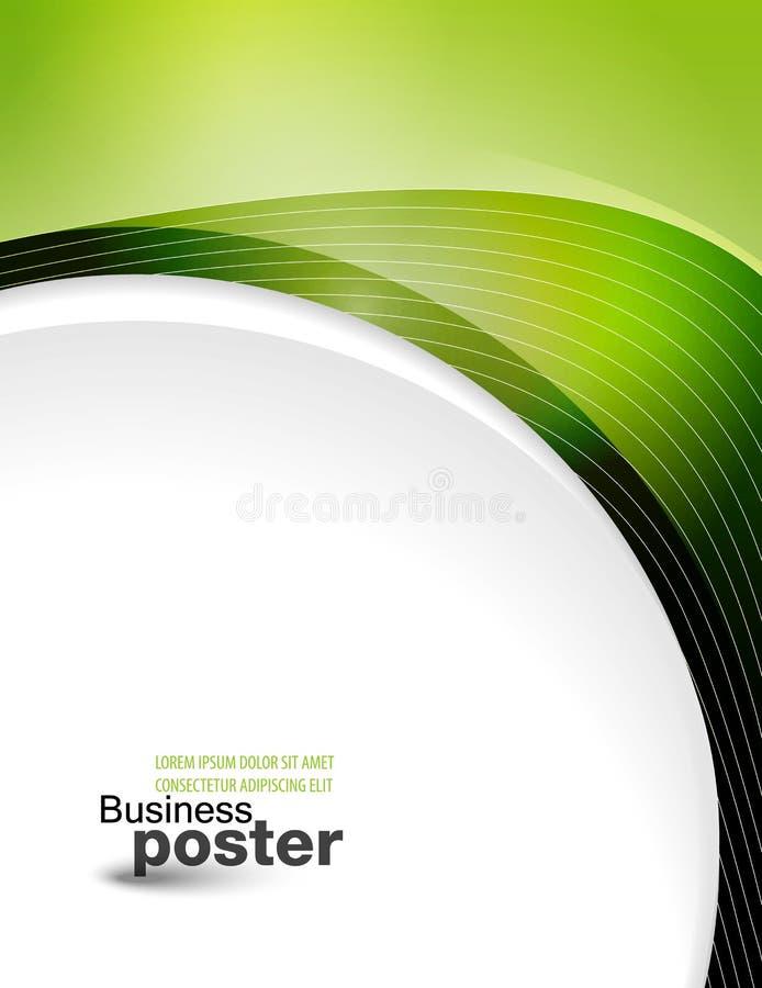 Παρουσίαση της επιχειρησιακής αφίσας διανυσματική απεικόνιση