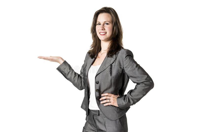 Παρουσίαση της επιχειρησιακής γυναίκας στοκ φωτογραφία με δικαίωμα ελεύθερης χρήσης