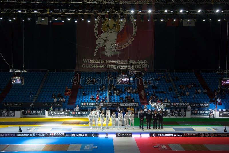 Παρουσίαση των ανταγωνιστών στο πρωτάθλημα στοκ φωτογραφία με δικαίωμα ελεύθερης χρήσης