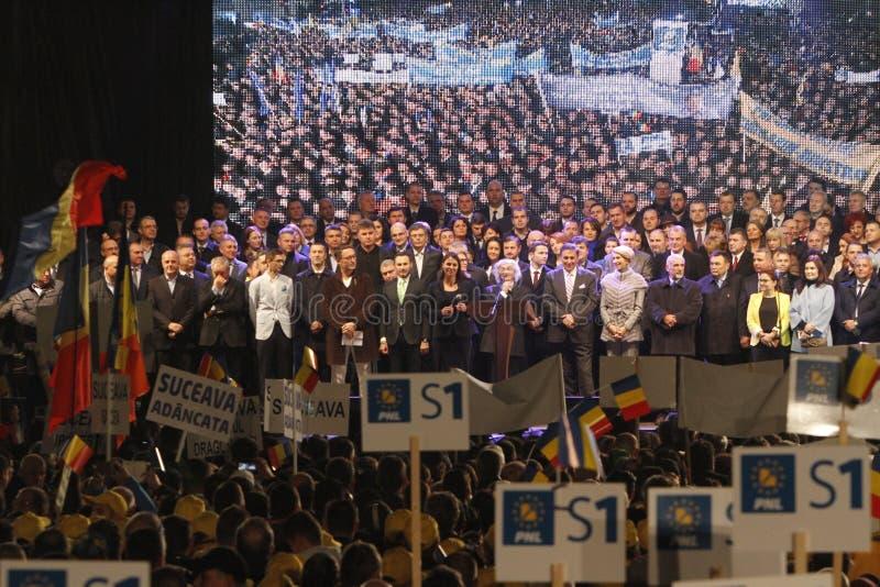 Παρουσίαση των υποψηφίων του εθνικού Φιλελεύθερου κόμματος στοκ εικόνες