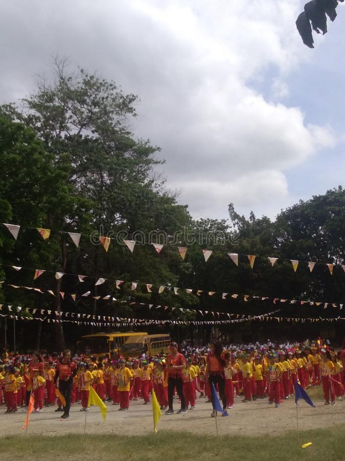 Παρουσίαση χορού Sinulog στοκ εικόνες