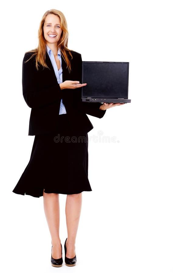 παρουσίαση lap-top στοκ εικόνα με δικαίωμα ελεύθερης χρήσης