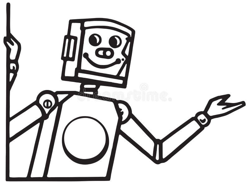 Παρουσιαστής ρομπότ διανυσματική απεικόνιση