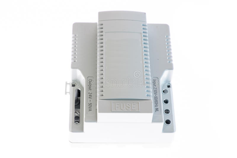 Παροχή ηλεκτρικού ρεύματος ραγών DIN στοκ εικόνα με δικαίωμα ελεύθερης χρήσης