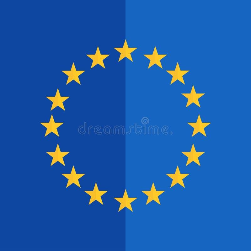 Παρόμοιος με το επίπεδο σχέδιο σημαιών ευρωπαϊκών ενώσεων διανυσματική απεικόνιση