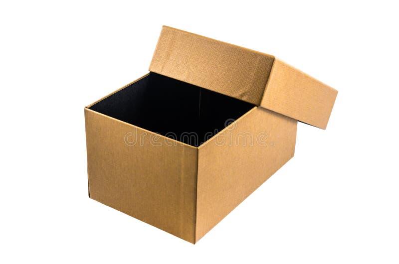 Παρόν κουτί από χαρτόνι που απομονώνεται στο άσπρο υπόβαθρο στοκ εικόνα