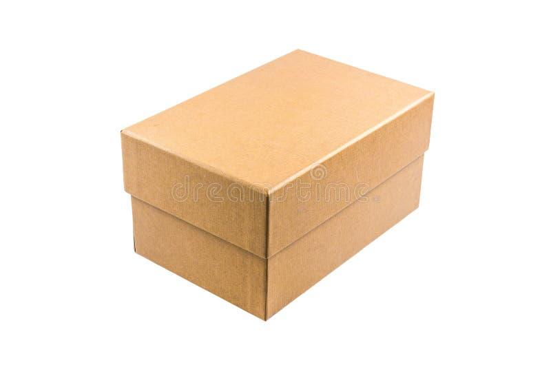 Παρόν κουτί από χαρτόνι που απομονώνεται στο άσπρο υπόβαθρο στοκ φωτογραφίες με δικαίωμα ελεύθερης χρήσης