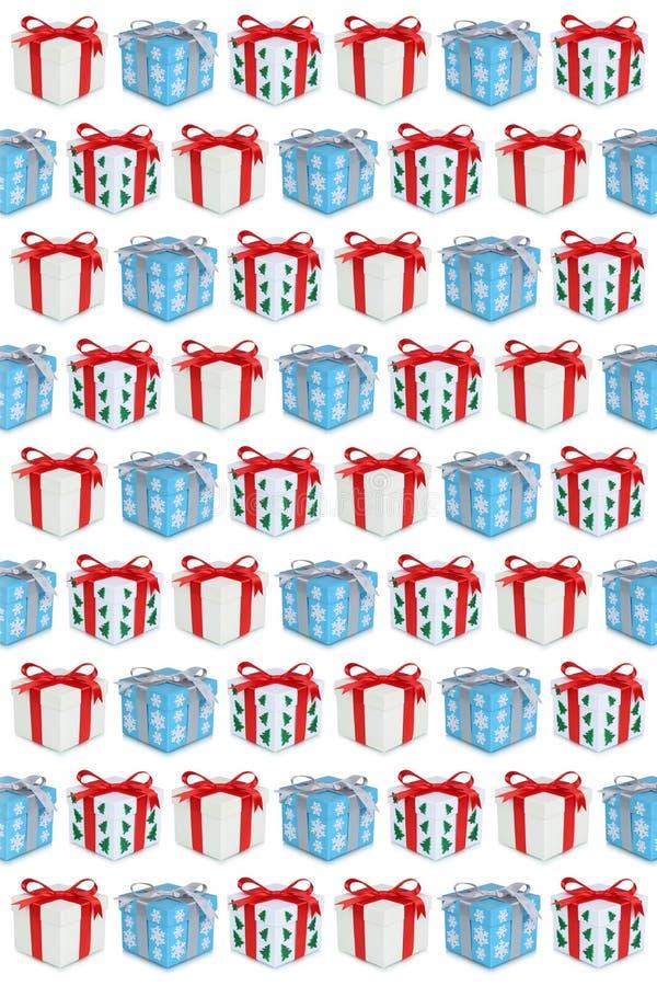 Παρόν υπόβαθρο κιβωτίων δώρων δώρων Χριστουγέννων ελεύθερη απεικόνιση δικαιώματος