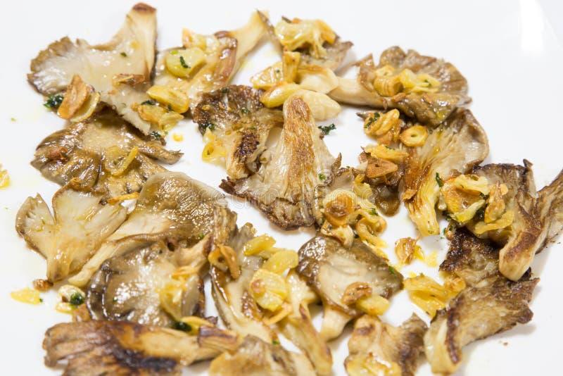 Παστωμένα μανιτάρια με τον άνηθο και το σκόρδο στοκ εικόνες