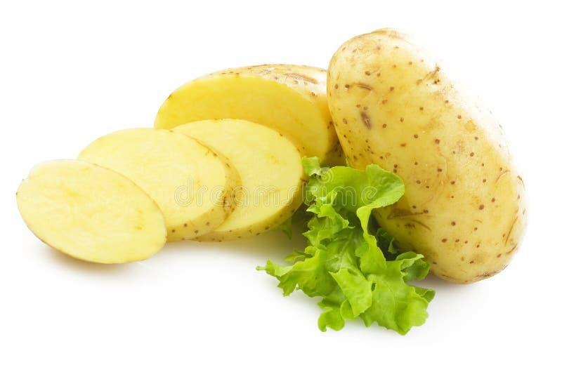 Πατάτα που τεμαχίζεται στοκ φωτογραφίες με δικαίωμα ελεύθερης χρήσης