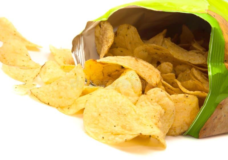 πατάτα τσιπ στοκ εικόνα