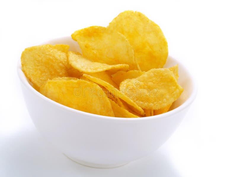 πατάτα τσιπ yummy στοκ εικόνες