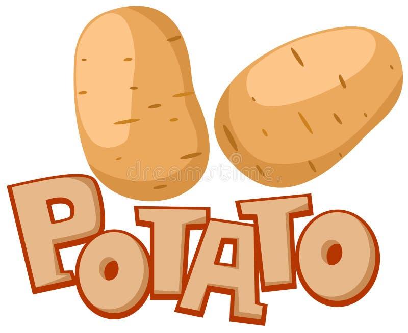 πατάτα διανυσματική απεικόνιση