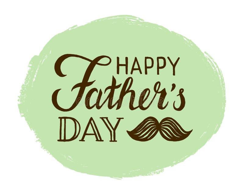πατέρες ημέρας ευτυχείς διανυσματική απεικόνιση