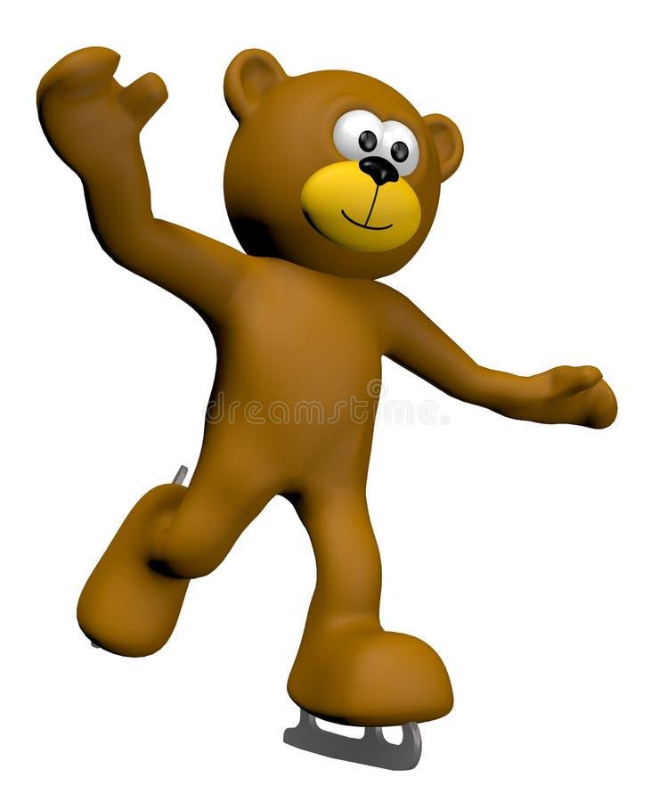 πατινάζ πάγου teddy ελεύθερη απεικόνιση δικαιώματος