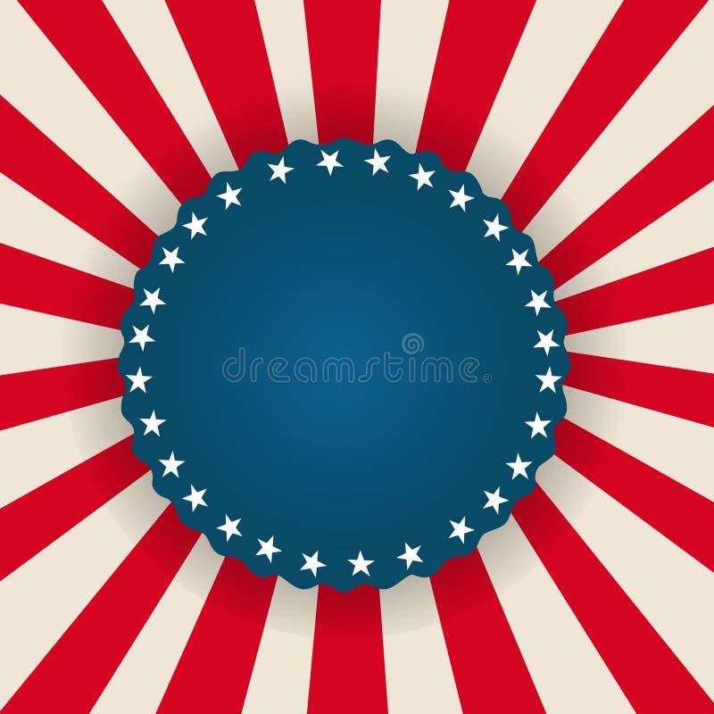 Πατριωτική αμερικανική σημαία υποβάθρου διανυσματική απεικόνιση