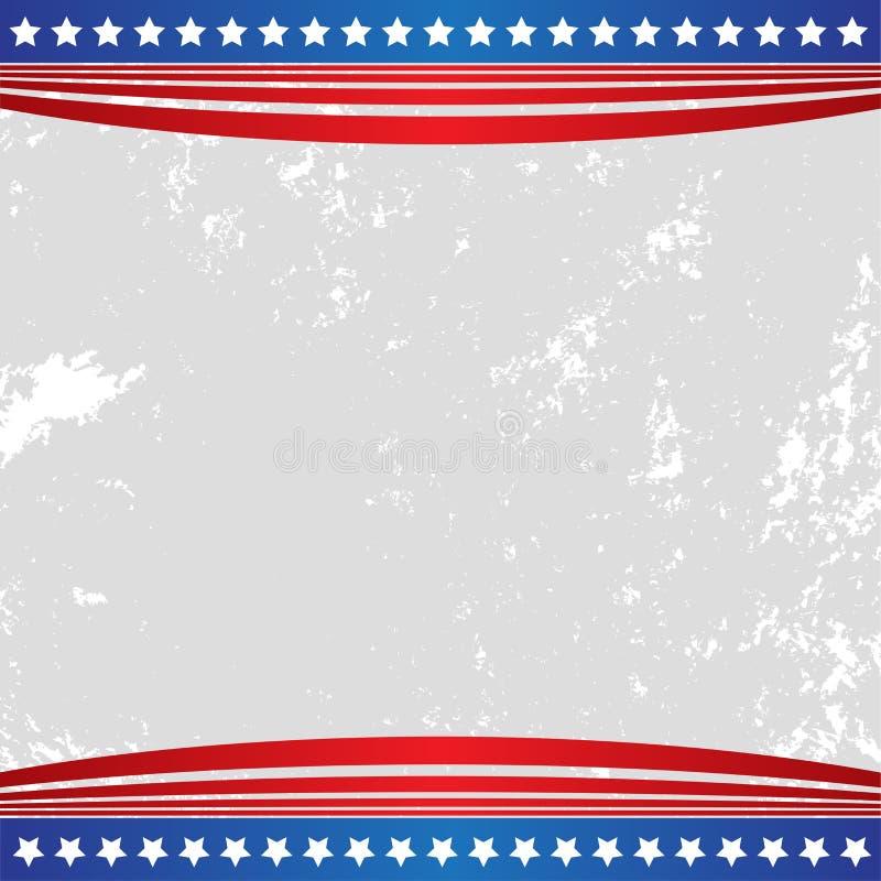 Πατριωτική αμερικανική αμερικανική σημαία υποβάθρου απεικόνιση αποθεμάτων