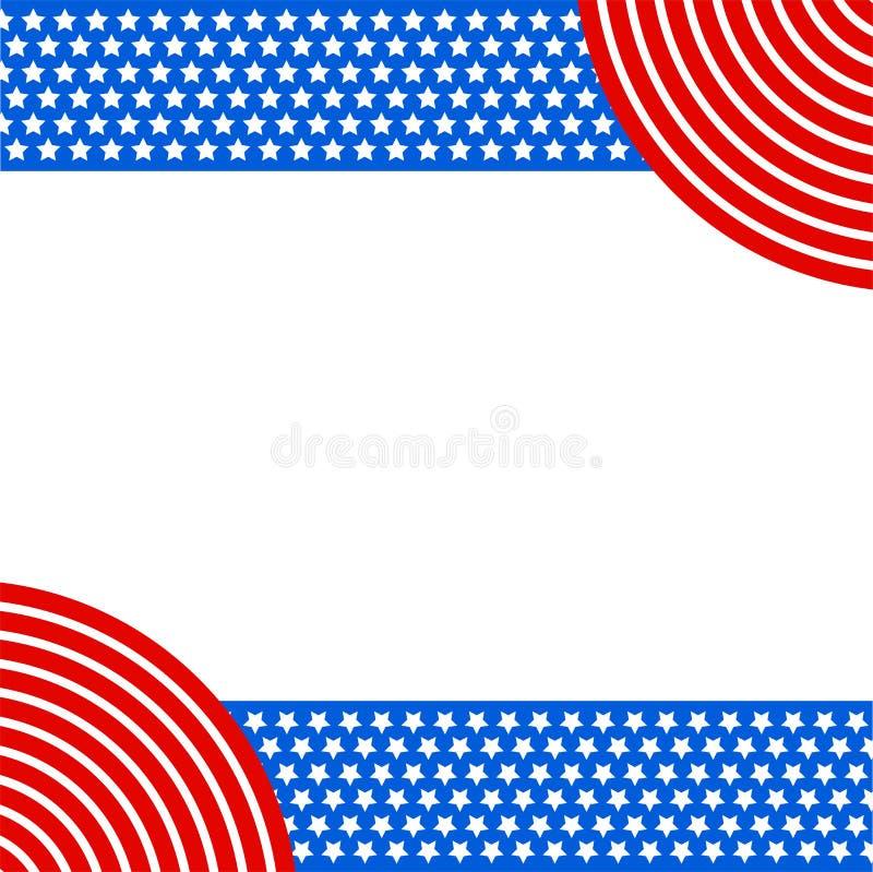 Πατριωτική αμερικανική αμερικανική σημαία υποβάθρου ελεύθερη απεικόνιση δικαιώματος