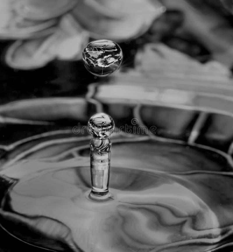 Παφλασμοί πτώσης νερού για να δημιουργήσει τις μορφές αντανάκλασης στοκ εικόνες με δικαίωμα ελεύθερης χρήσης