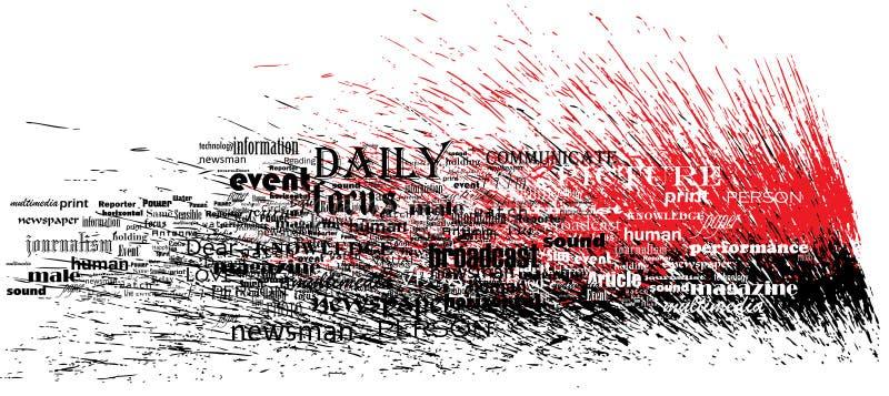 παφλασμός ειδήσεων τύπων χαρακτήρων διανυσματική απεικόνιση