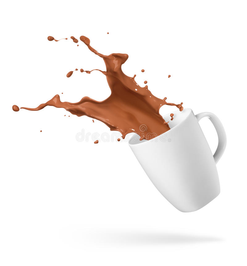 παφλασμός ποτών σοκολάτα& στοκ φωτογραφίες