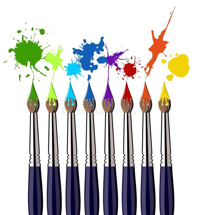 παφλασμός χρωμάτων χρώματο&si διανυσματική απεικόνιση