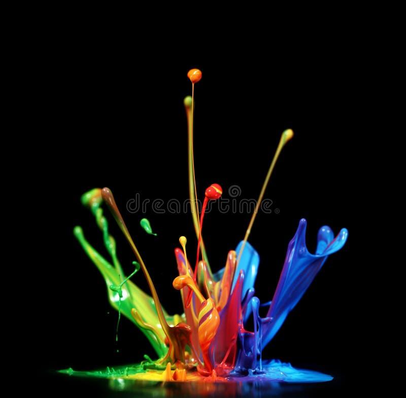 Παφλασμός χρωμάτων στοκ φωτογραφίες με δικαίωμα ελεύθερης χρήσης