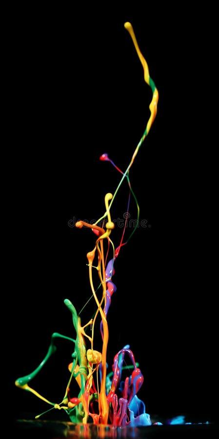 Παφλασμός χρωμάτων στοκ φωτογραφία με δικαίωμα ελεύθερης χρήσης